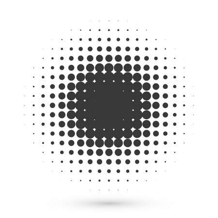 Circle halftone shape. Round dot grunge effect for medical or cosmetic icon or poster 向量圖像