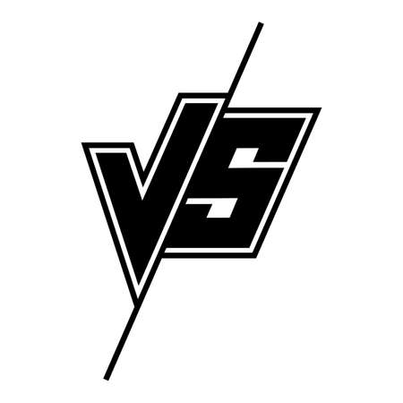 Versus or VS icon confrontation or opposition battle. Vector duel concept 向量圖像