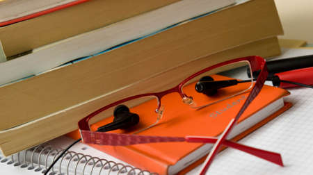objects: school accessories, various objects
