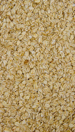 processed grains: grits are scattered on a surface, rounded shape the processed grains,
