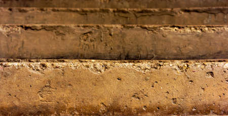 arose: old arose steps, several pieces, brown and yellow shades Stock Photo
