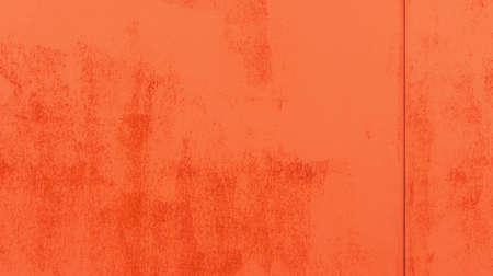 rust red: part of iron gate of the dark orange and red shades divided into two parts and covered with a rust