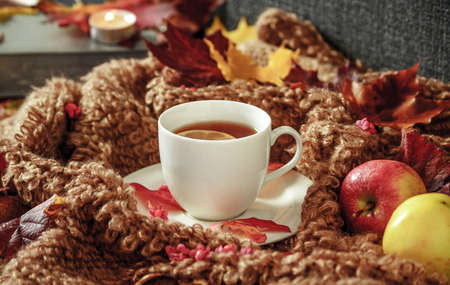 It is a cup of tea and a cup of tea. Banco de Imagens