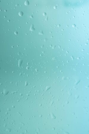 Wet glass texture with drops of clear water.