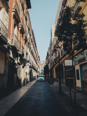 MADRID, SPAIN - JUNE 28, 2019: The streets of the city of Madrid are preparing to receive the gay pride 2019 Redakční