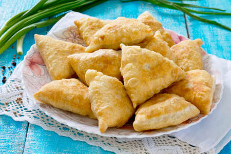 stuffing: The Indian national dish of samosas, fried dough and vegetable stuffing
