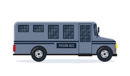 Prison bus or car. Prisoner Transport icon.  イラスト・ベクター素材