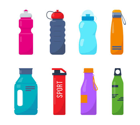 Bright drink bottles for fitness, protein shakers.