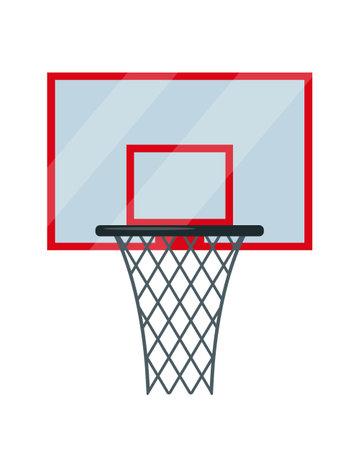 Basketball basket. Sport equipment for basketball.