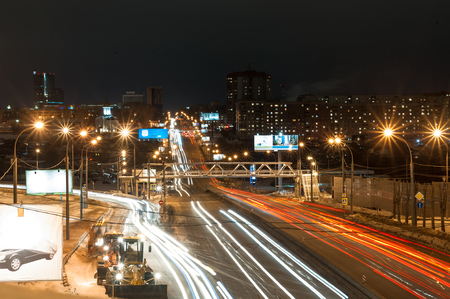 novosibirsk: Nemirovich-Danchenko street at night
