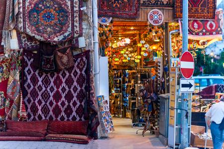 kapalicarsi: Turkish carpets at Grand Bazaar in Istanbul, Turkey.