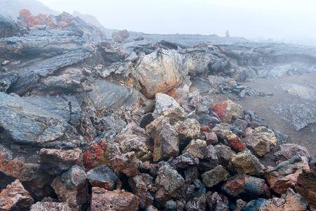 lava field: lava field, sinter, tufa, pumice in Kamchatka