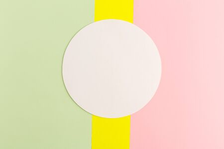 Abstract colored paper and creative colorful pastel paper background, white circle for text