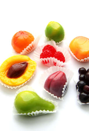 Bright fruit candies