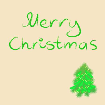Christmas greetings with christmas tree Stock Vector - 7602028