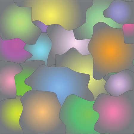 Abstract multi-coloured puzzle background Illustration