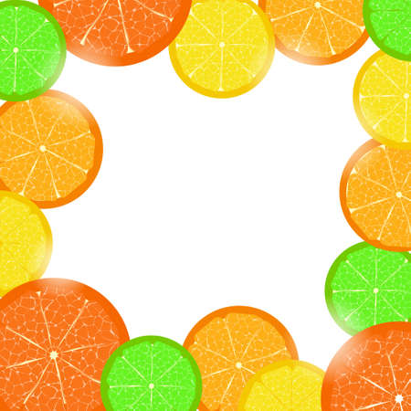 Frame of citrus slices