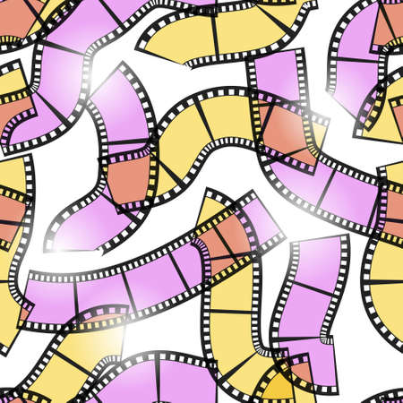 Photo films in sunlight (seamless) Illustration