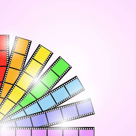 rainbow slide: Photo film rainbow in sunlight (background)