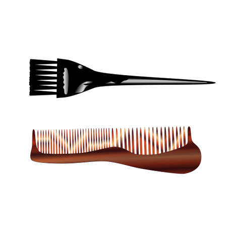 Brush and comb (isolated)