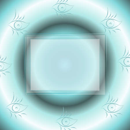 futuristic eye: Futuristic blue background with eye symbols