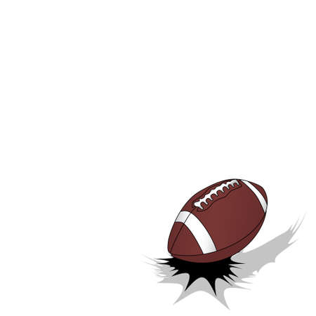 Jumping american football ball on white background with free space fot your text Illustration