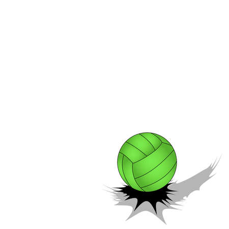 Jumping volleyball ball on white background with free space for your text Illustration