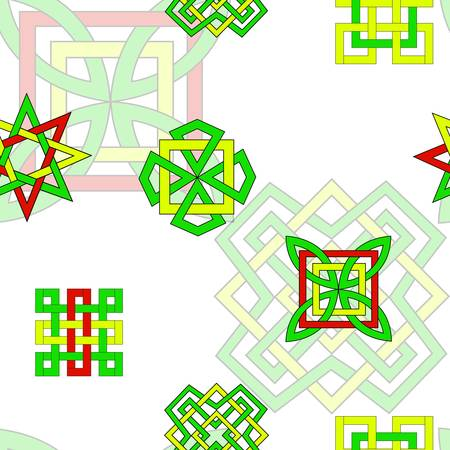 Background with bright elements in celtic style