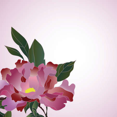 Pretty lilac chinese rose on pink background