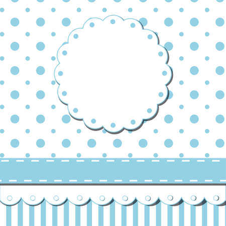 Scrap template of pretty vintage design with blank space for your text Illustration
