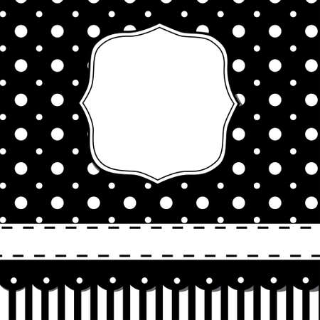 Scrap template of pretty vintage design with blank space for your text Vector