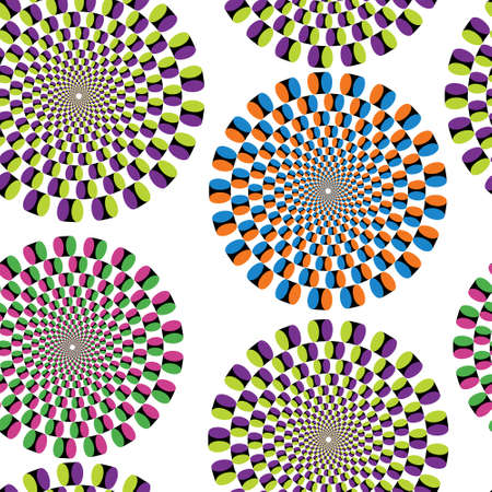 optics: Seamless background with optical illusion Illustration