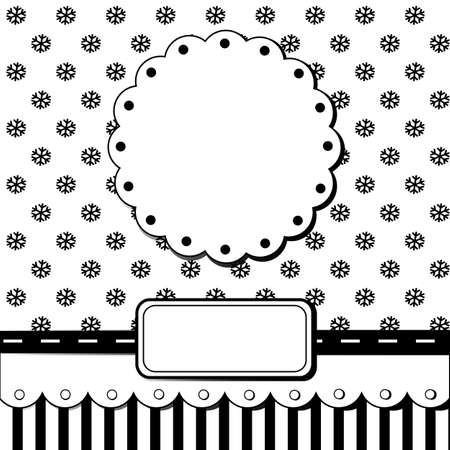 Scrap template of pretty christmas vintage design with blank space for your text