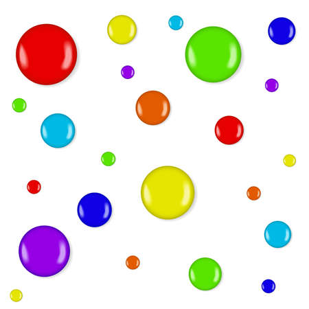 Cute seamless background with lollipop candies or blobs of paint