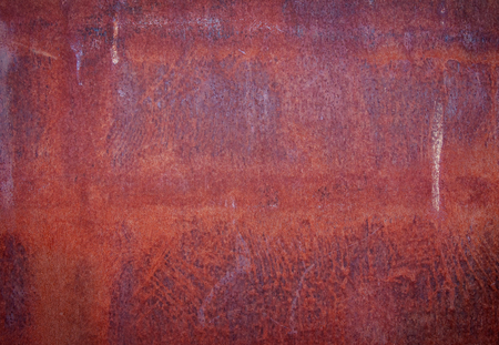 worn structure: Red rusty scratched dirty metal texture, grunge background Stock Photo