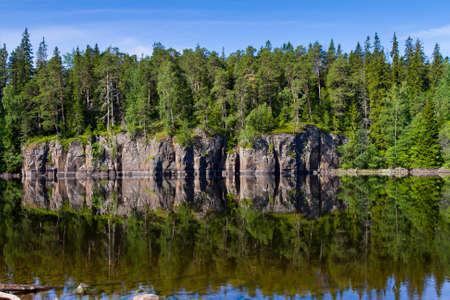 karelia: Overlooking the Lake Ladoga. Karelia, Russia.