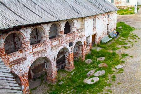 karelia: The ruins of the Solovetsky Monastery, Karelia, North of Russia.