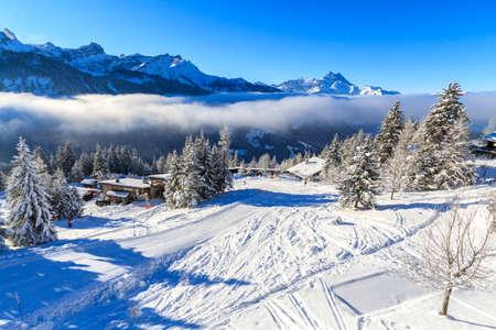 The Winters Tale. Switzerland, Villars. Stock Photo