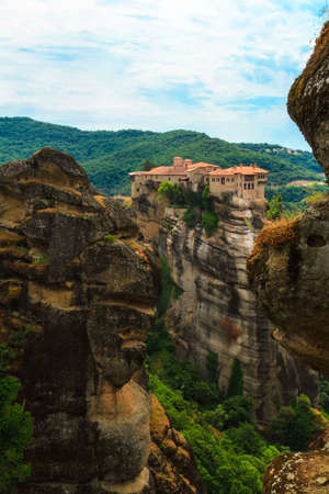 meta: The Meta  ora Monasteries, Greece Stock Photo