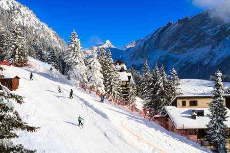 Winter sports in Switzerland, Villars-sur-Ollon.