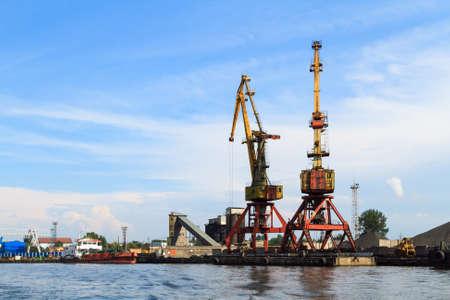 shipbuilding: Commercial port in Kaliningrad, Russia.