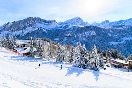 station ski: A ski slope station in Switzerland