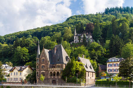 View of the wine town of Cochem at the Moselle in Germany
