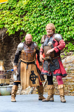 guise: Medieval festival at Cochem Castle in Germany, August 2014 Editorial