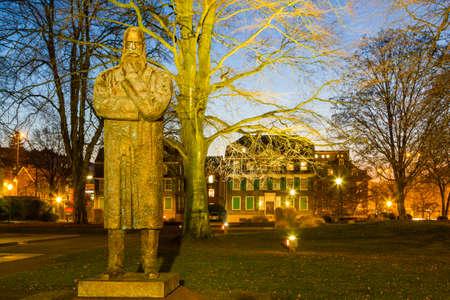 The Engels Memorial in Wuppertal Barmen, Germany