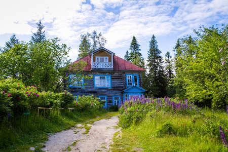 Solovki, Russia - June 26, 2016 Archimandrite Makarius Cottage built in 1882
