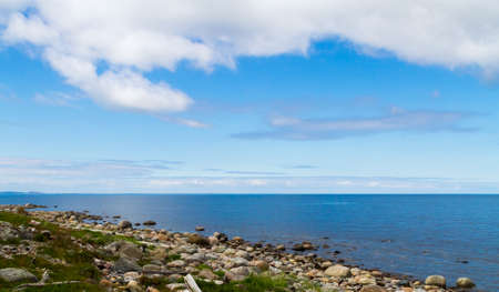 The view from the Bolshoi Zayatsky Island to the White Sea, Russia.