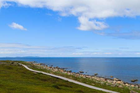 The view from the Bolshoi Zayatsky Island to the White Sea, Russia.