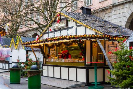 Christmas market in Wuppertal-Barmen, Germany. December 2017