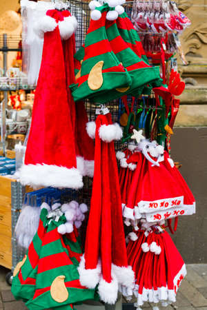 Sales booth during the Christmas season. Germany